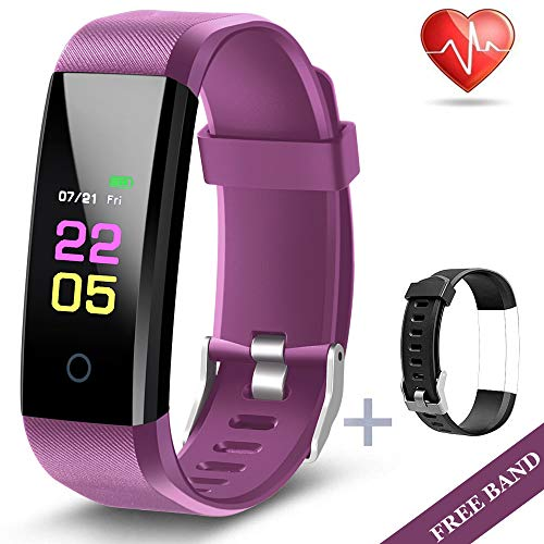 Fitness Tracker  Activity Tracker Watch with Heart Rate Blood Pressure Monitor Waterproof Watch with Sleep Monitor Calorie Step Counter Watch for kids Women Men Compatible Android iPhone Smartphone
