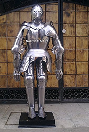 17TH CENTURY TRADITIONAL GERMAN KNIGHT FULL SUIT OF ARMOR BY NAUTICALMART by NAUTICALMART