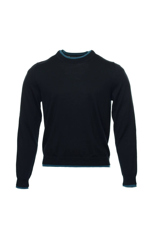 Baruffa The Men's Store Black Heather Crew Neck Sweater, Size XLarge