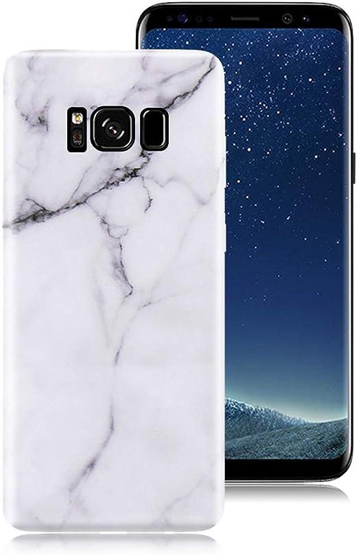 Nadoli Coque pour Galaxy S8,Géométrique Modèle Pur Couleur Faux ...