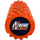 Extreme Muscle Foam Roller ✠ High Density Grid Provides Deep Massage For Tight Muscles - For Pilates, Yoga, Running, Physical Therapy & Sports - Orange