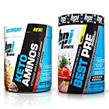 Cheap BPI Sports Keto Aminos and Best Pre-Workout Tropical Freeze (30 Servings Each) Weight Loss and Muscle Building Stack – 30 Servings Each