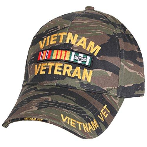 Vietnam Veteran Baseball Cap Tiger Stripe Camouflage Mens Vet Hat Camo (Vietnam Veterans Stripe)