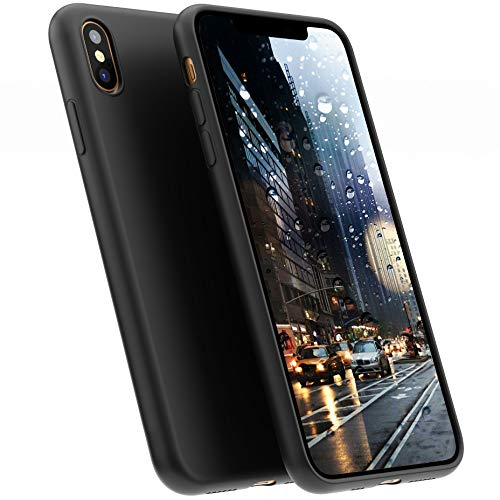 A BETTER MINIMALIST CASE for iPhone X, Moduro Ultra Thin [1.5mm] Slim Fit Flexible Soft TPU Case for iPhone X (Matte Black)