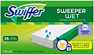Swiffer Sweeper Wet Mopping Pad Refills for Floor Mop with Febreze Lavender Vanilla & Comfort S
