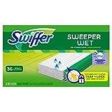 swiffer sweeper wet pads - Swiffer Sweeper Wet Mopping Pad Refills for Floor Mop with Febreze Lavender Vanilla & Comfort Scent 36 Count