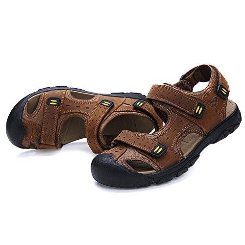 Uomo Chiaro Escursionismo Sandali Spiaggia All'Aperto Mare DianShaoA Sneakers Sportivi Scarpe Piscina Marrone Acqua Pescatore Sandali da qgZty7