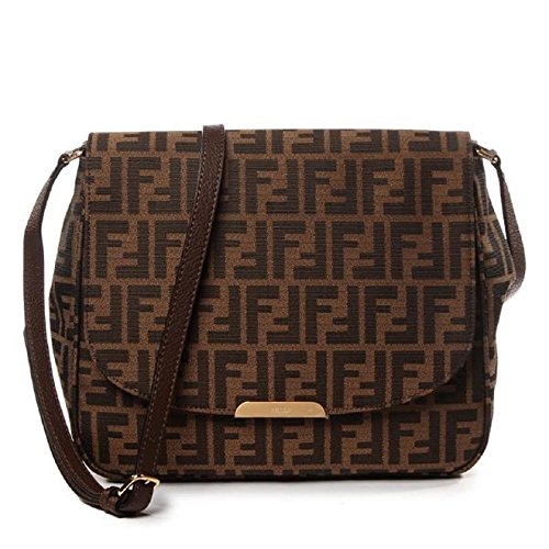 Fendi-Zucca-FF-Monogram-Canvas-Leather-Shoulder-Bag-8BT215