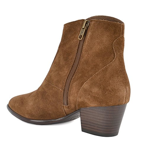 Mujer Bis Heidi Russet Botines Russet Ash Zapatos Ante de E87qWHw0nv