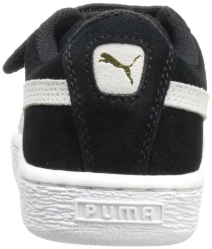 Puma Kids Suede 2 Straps Sneaker Black/White