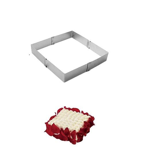 EPRHAY - Molde de acero inoxidable para tartas (ajustable de ...