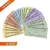 Budgetizer Cash Envelopes System - 24 Pack Budget Planner Envelopes –Assorted Colors Money Envelopes - Bundle with 1 Cash Organizer Wallet and 1 Counterfeit Bill Marker Detector