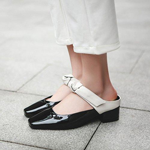 sandali Nero bianco Jitian Donna Sabot CAw1q1