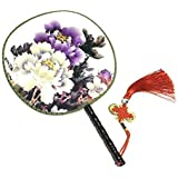 Attractive Chinese Round Fan Classical Dancing Dan With Beautiful Pattern, #23