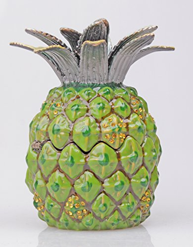 Limoges Box Gift Tropical Hawaiian Pineapple Fruit Trinket Size 6.5*6.5*9.8 Cm