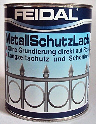 Feidal Metallschutzlack , 3 in 1 Rostschutz , Grundierung u. Lack in einem , Farbton Enzianblau RAL 5010 , glänzend / 250 ml , Streichbar direkt auf Rost / Speziallack für Handwerk u. Industrie / stoß- u. schlagfest / für Eisen u. Stahl