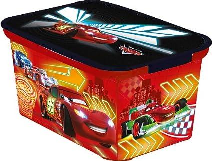 dimensioni 30 x 21 x 15 cm colore: Rosso con personaggi del film Cars CURVER 217727 D/éco Amsterdam Scatola multiuso in polipropilene