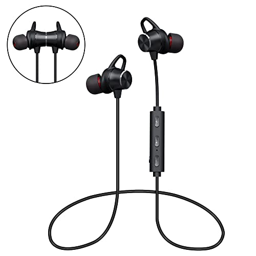 940d24b0f68 Bluetooth Headphones, GRDE Wireless Magnetic Earbuds Stereo In-Ear Earphones  Noise Cancelling Running Headset