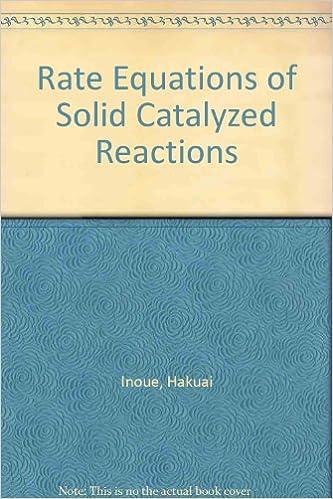 Rate Equations Of Solid Catalyzed Reactions Reiji Mezaki