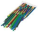 Paragon Sno-Cone Spoon Straws, Multicolor, 200-Count