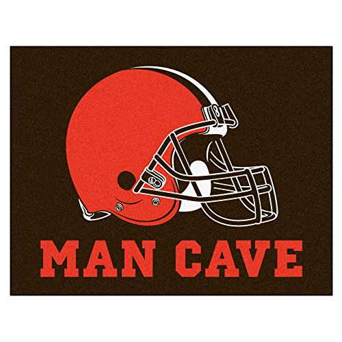 FANMATS 14288 NFL Cleveland Browns Nylon Universal Man Cave All-Star Mat