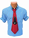 Bev Tie, Beer Tie, Drink Holding Tie, Tie That Holds Your Beer, Beverage, Drink Holder (Red)