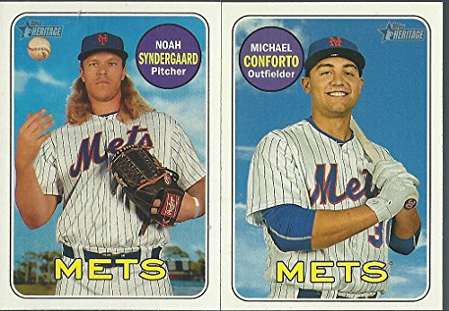 - 2018 Topps Heritage New York Mets Base Team Set 11 Cards David Wright Jose Reyes Yoenis Cespedes Michael Conforto