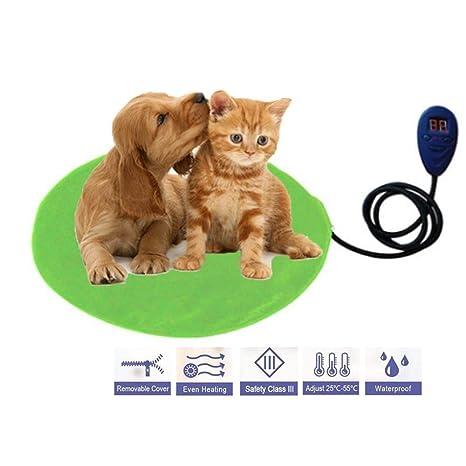 Almohadilla eléctrica para mascotas,ropa de cama eléctrica para perros y gatos Calzador de líneas