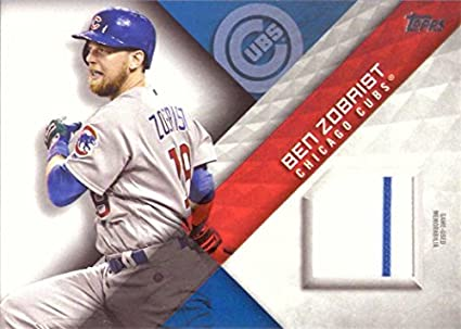 7a1366906 ... norway 2018 topps relics mlm bz ben zobrist game worn chicago cubs  jersey baseball card 51862