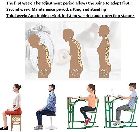 調節可能なハングバック姿勢ベルト、背部サポート学生は近視の大人がギフトを与えるのに適した画像の気質を改善するのを防ぎます (Size : XL)