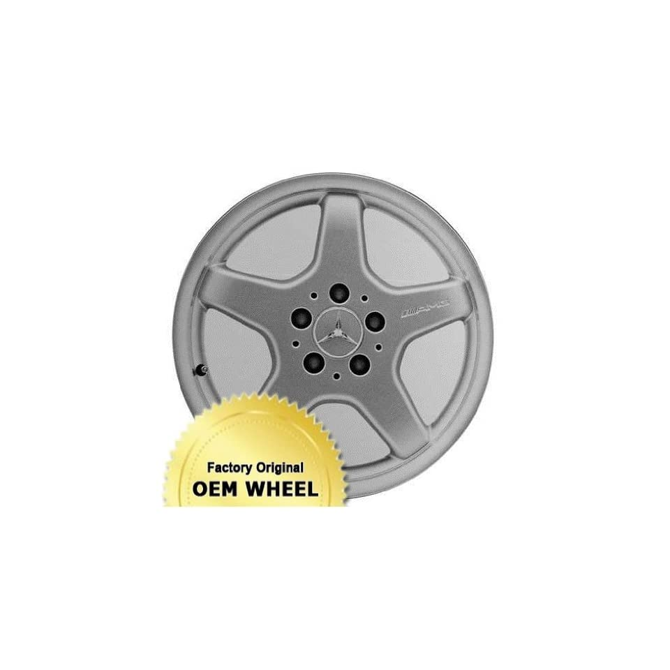 MERCEDES CLK430,CLK500,CLK CLASS 17x7.5 5 SPOKE Factory Oem Wheel Rim  MACHINE LIP SILVER   Remanufactured Automotive