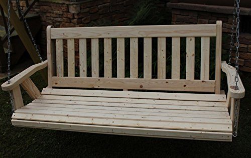 Amish Heavy Duty 700 Lb 4 Ft. Mission Style Porch Swing – Made in USA For Sale