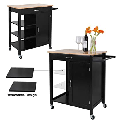 Amazon Com Shopper S Choice Kitchen Cabinets Solid Wood Rolling