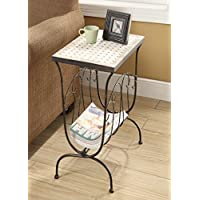 4D Concepts Travertine Magazine End Table