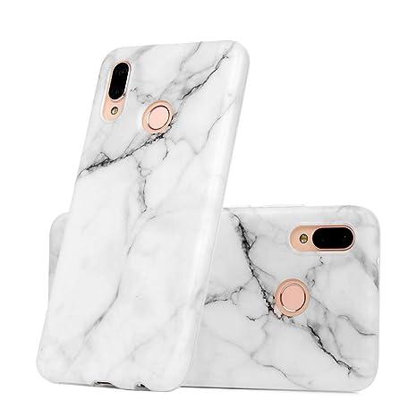 Funda para Huawei P20 Lite, GODTOOK Slim Soft Carcasa Scrub Mármol TPU Flexible Caja Suave Silicone Antigolpes Back Protective Case Blanda Cover ...