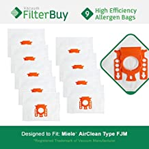 9 - FilterBuy Miele FJM Vacuum Replacement Bags, Miele Part # 7291640. Designed by FilterBuy to fit The Miele HyClean FJM Canister Vacuum Cleaner