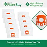 9 - Miele FJM Vacuum Bags, Miele Part # 7291640. Designed by FilterBuy to fit the Miele HyClean FJM Canister Vacuum Cleaner