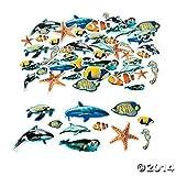 500 Foam Realistic Ocean Animal Self-Adhesive Shapes/ARTS & CRAFTS/SCRAP BOOKING/Teacher Supplies