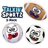 Move2Play Talkin' Sports Hilariously Interactive Toy Sports Balls with Music and Sound FX for Kids and Toddlers - Bundle Set.
