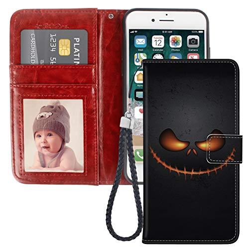 JQLOVE Apple iPhone 7/8 Wallet Phone Case, Halloween