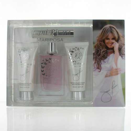 Mariposa By Jenni Rivera 4 Piece Gift Set - 3.4 Oz Eau De Perfume Spray, 3.3 Oz Perfumed Body Lotion, 3.3 Oz Perfumed Sh