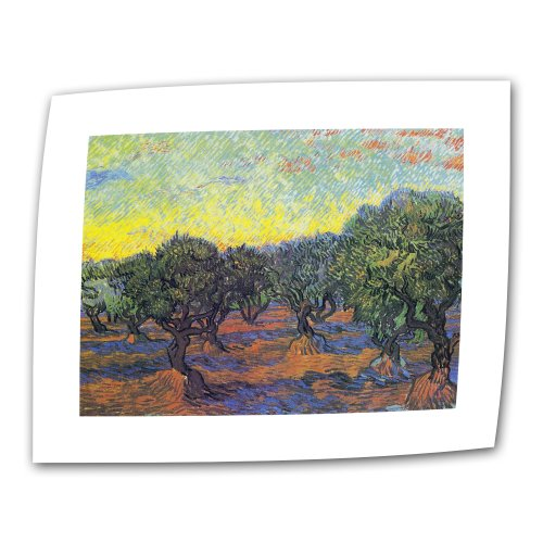 Art Wall Olive Grove with Yellow Sky by Vincent Van (Old Master Flat)