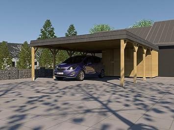Doppel carport walmdach sauerland v cm carport