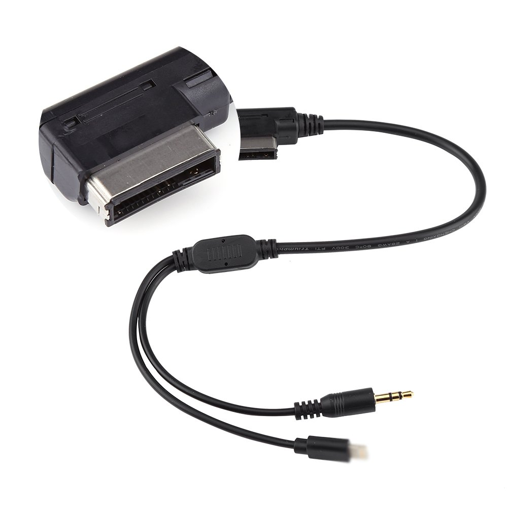 Qiilu Aux Adapter Cable Car AMI MDI MMI 3.5mm MP3 Music Interface Charger Cord for iPod iPhone 5 6 Audi VW A3 A8 Q5 by Qiilu (Image #7)