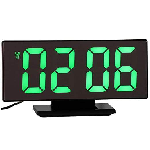 CCZ Reloj Despertador Despertador Digital Reloj de Espejo Reloj ...
