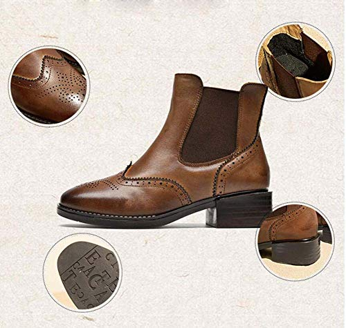 Banda Tamaño Caballero Zapatos Casual Black Corte Bota Estilo 35 Toe Chelsea Boot Elástica 40 Martin Redonda Bullock Ue Mujeres Z0xPA7U