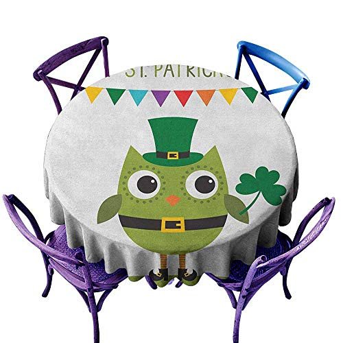 familytaste St. Patricks Day,Round Tablecloth D 70