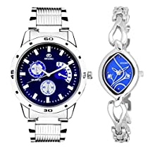 ADAMO Designer Analog Blue Dial Unisex Watch - 108-2455SM05