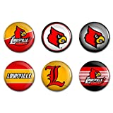 NCAA University of Louisville WCR90390012 Round Button (6 Pack), 2''