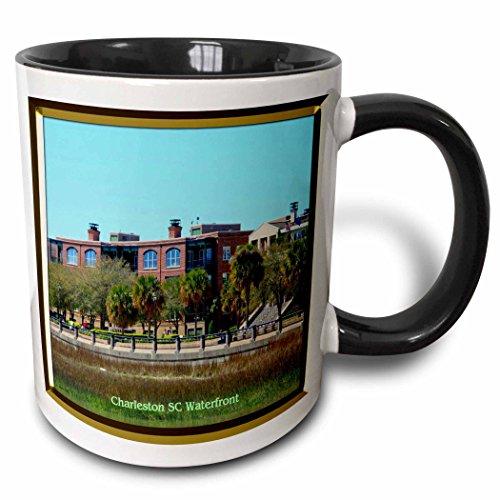 3dRose 3dRose Charleston SC Waterfront - Two Tone Black Mug, 11oz (mug_55326_4), , - Sc Outlet In Charleston